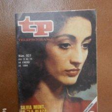 Coleccionismo de Revista Teleprograma: TP 927 AÑO REVISTA TELEPROGRAMA 1984. Lote 112040703
