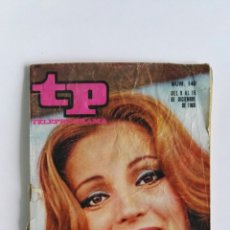 Coleccionismo de Revista Teleprograma: REVISTA TP TELEPROGRAMA N° 140 DICIEMBRE 1968 CARMEN SEVILLA PELE. Lote 112217218
