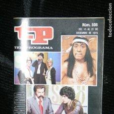 Coleccionismo de Revista Teleprograma: F1 TP TELEPROGRAMA Nº 506 AÑO 1975 LO MEJOR Y LO PEOR DEL AÑO . Lote 112252031