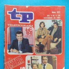 Coleccionismo de Revista Teleprograma: TP TELEPROGRAMA Nº 922 - DICIEMBRE 1983 -EDICION NACIONAL- EXTRA, LO MEJOR Y LO PEOR DEL AÑO..R-8525. Lote 113895987
