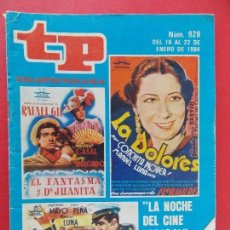 Coleccionismo de Revista Teleprograma: TP TELEPROGRAMA Nº 928 - ENERO 1984 - EDICION NACIONAL - LA NOCHE DEL CINE ESPAÑOL... R-8527. Lote 113897943