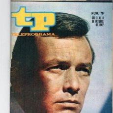 Coleccionismo de Revista Teleprograma: TP Nº 78, OCTUBRE 1967, DAVID JANSSEN ( EL FUGITIVO). Lote 117386439