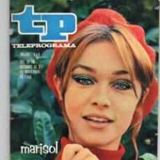 Coleccionismo de Revista Teleprograma: TP 134 NOV. 1968, PORTADA E INTERIOR MARISOL. Lote 117387731