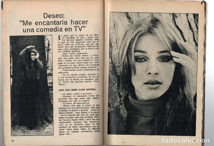 Coleccionismo de Revista Teleprograma: tp 134 nov. 1968, portada e interior Marisol - Foto 2 - 117387731
