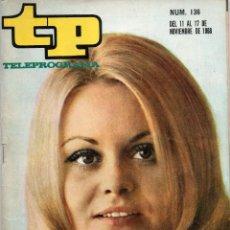 Coleccionismo de Revista Teleprograma: TP Nº 136 CON ROCÍO DURCAL, EDICIÓN MADRID, 1968. Lote 117431779