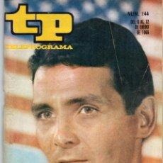 Coleccionismo de Revista Teleprograma: TP Nº 144 ENERO 1969, DAVID HEDISON DE VIAJE AL FONDO DEL MAR. Lote 117815007