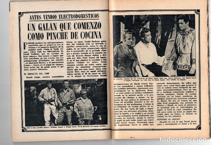 Coleccionismo de Revista Teleprograma: tp nº 144 enero 1969, David Hedison de viaje al fondo del mar - Foto 2 - 117815007