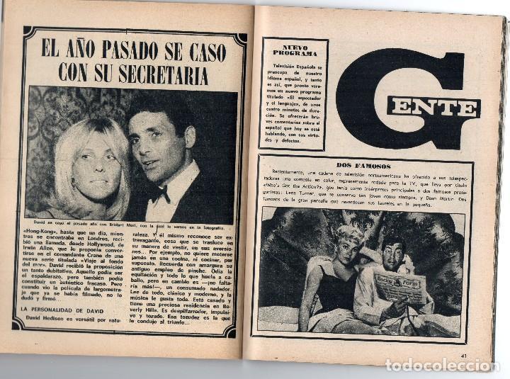 Coleccionismo de Revista Teleprograma: tp nº 144 enero 1969, David Hedison de viaje al fondo del mar - Foto 3 - 117815007