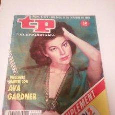 Coleccionismo de Revista Teleprograma: REVISTA TP N'1177, DIECISIETE MARTES CON «AVA GARDNER» AÑO 1988. Lote 121642103