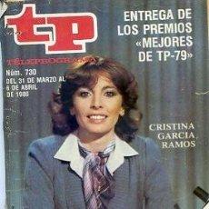 Coleccionismo de Revista Teleprograma: REVISTA TP TELEPROGRAMA Nº730 1980. Lote 122755795