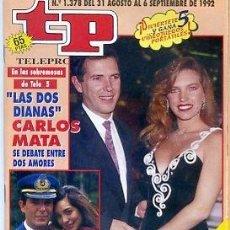 Coleccionismo de Revista Teleprograma: REVISTA TP TELEPROGRAMA Nº1378 1992. Lote 122756043