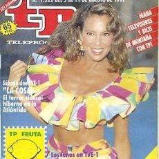 Coleccionismo de Revista Teleprograma: REVISTA TP TELEPROGRAMA Nº1322 1991 . Lote 122756087