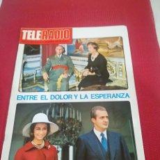 Coleccionismo de Revista Teleprograma: TELE RADIO - REVISTA NOVIEMBRE 1975 - CON LA PROGRAMACION DE LA TVE - MUERTE DE FRANCO. Lote 124223943