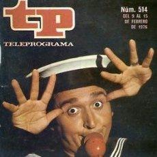 Coleccionismo de Revista Teleprograma: REVISTA TP TELEPROGRAMA Nº 514 1976 FERNANDO ESTESO ESPISODIO HEIDI. Lote 128458263