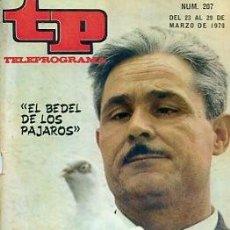 Coleccionismo de Revista Teleprograma: REVISTA TP TELEPROGRAMA Nº 207 1970. Lote 128459391
