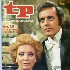Coleccionismo de Revista Teleprograma: REVISTA TP TELEPROGRAMA Nº 521 1976 PEQUEÑECES EPISODIOS HEIDI. Lote 128464523