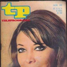 Coleccionismo de Revista Teleprograma: REVISTA TP TELEPROGRAMA Nº 102 MARIA ASQUERINO. Lote 128544023
