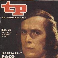 Coleccionismo de Revista Teleprograma: REVISTA TP TELEPROGRAMA Nº 513 PACO DE LUCIA . Lote 128553263