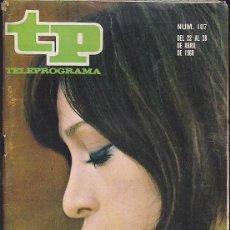 Coleccionismo de Revista Teleprograma: REVISTA TP TELEPROGRAMA Nº 107 MASSIEL . Lote 128553283