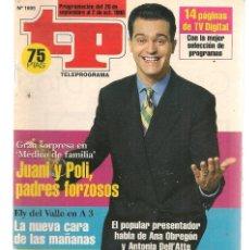 Coleccionismo de Revista Teleprograma: TP. TELEPROGRAMA. Nº 1695. 26 SEPTIEMBRE 1998. (P/C33). Lote 131505650