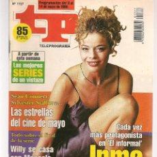 Coleccionismo de Revista Teleprograma: TP. TELEPROGRAMA. Nº 1727. 8 MAYO 1999. (P/C33). Lote 131506742