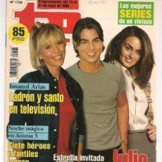 Coleccionismo de Revista Teleprograma: TP. TELEPROGRAMA. Nº 1728. 15 MAYO 1999. (P/C33). Lote 131506778