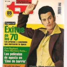 Coleccionismo de Revista Teleprograma: TP. TELEPROGRAMA. Nº 1740. . 7 AGOSTO 1999. (P/C33). Lote 131544674