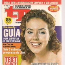 Coleccionismo de Revista Teleprograma: TP. TELEPROGRAMA. Nº 1755. . 22 NOVIEMBRE 1999. (P/C33). Lote 131544974