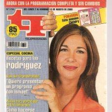 Coleccionismo de Revista Teleprograma: TP. TELEPROGRAMA. Nº 1792. . 7 AGOSTO 2000. (P/C33). Lote 131545566