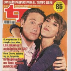 Coleccionismo de Revista Teleprograma: TP. TELEPROGRAMA. Nº 1831. . 7 MAYO 2001. (P/C33). Lote 131546106