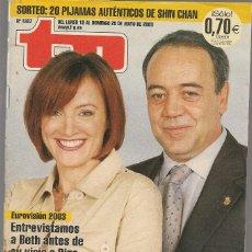 Coleccionismo de Revista Teleprograma: TP. TELEPROGRAMA. Nº 1937. 19 MAYO 2003. (P/C33). Lote 131562090