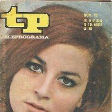 Coleccionismo de Revista Teleprograma: TP - TELEPROGRAMA Nº 121 - MARÍA MASSIP 29 JUL AL 4 AGO 1968. Lote 132291686