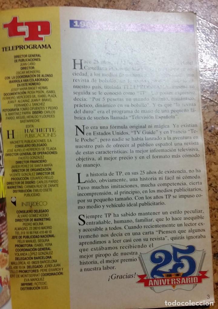Coleccionismo de Revista Teleprograma: TP TELEPROGRAMA EXTRA 25 ANIVERSARIO BODAS DE PLATA 1966 - 1991 - Foto 3 - 132495850