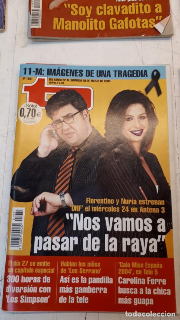 Coleccionismo de Revista Teleprograma: Lote TP, Teleprograma. 2003 y 2004. Trece revistas - Foto 5 - 132510506