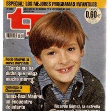 Coleccionismo de Revista Teleprograma: TP. TELEPROGRAMA. Nº 1902. RICARDO GÓMEZ, CUÉNTAME. 22 SEPBRE 2002. (P/C34). Lote 290071638