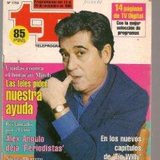 Coleccionismo de Revista Teleprograma: TP. TELEPROGRAMA. Nº 1702. ANDRÉS PAJARES. 20 NOVIEMBRE 1998.(P/C34). Lote 132681606