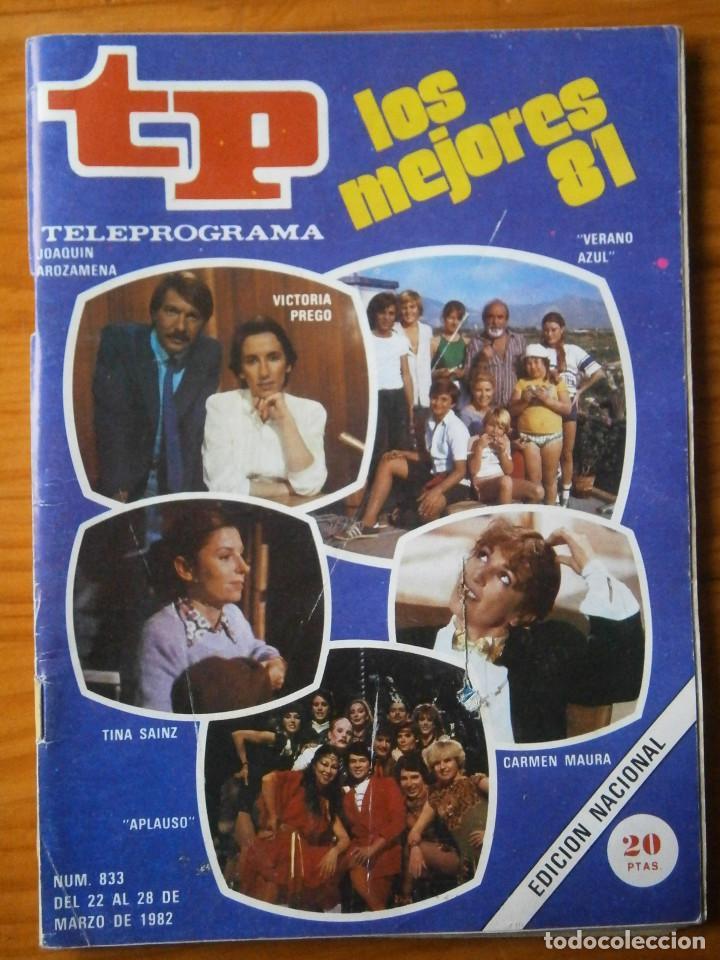 TELEPROGRAMA TP AÑO 1982 (Coleccionismo - Revistas y Periódicos Modernos (a partir de 1.940) - Revista TP ( Teleprograma ))