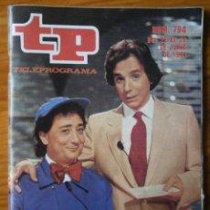 Coleccionismo de Revista Teleprograma: TELEPROGRAMA TP AÑO 1981. Lote 133017210