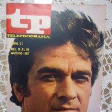 Coleccionismo de Revista Teleprograma: REVISTA TP TELEPROGRAMA Nº 71 JULIO NUÑEZ - DIFICIL DE CONSEGUIR. Lote 133578478