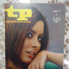 Coleccionismo de Revista Teleprograma: REVISTA TP TELEPROGRAMA Nº 72 ELISA RAMIREZ - DIFICIL DE CONSEGUIR. Lote 133578514