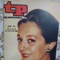 Coleccionismo de Revista Teleprograma: REVISTA TP TELEPROGRAMA Nº 172 IRENE GUTIERREZ CABA. Lote 261691915