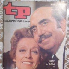 Coleccionismo de Revista Teleprograma: REVISTA TP TELEPROGRAMA Nº 244 IRENE G. CABA Y ANTONIO FERRANDIS. Lote 133744230