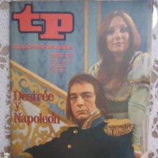 Coleccionismo de Revista Teleprograma: REVISTA TP TELEPROGRAMA Nº 274 DESIREE Y NAPOLEON. Lote 133750914