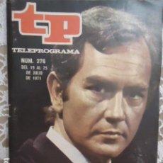 Coleccionismo de Revista Teleprograma: REVISTA TP TELEPROGRAMA Nº 276 JAVIER ESCRIVA. Lote 133751034