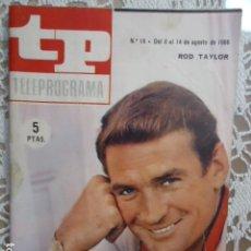 Coleccionismo de Revista Teleprograma: REVISTA TP TELEPROGRAMA Nº 18 ROD TAYLOR - DIFICIL DE CONSEGUIR. Lote 133541082