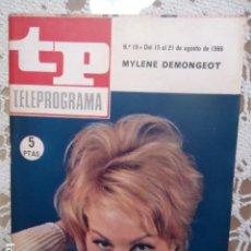 Coleccionismo de Revista Teleprograma: REVISTA TP TELEPROGRAMA Nº 19 MYLENE DEMONGEOT - DIFICIL DE CONSEGUIR. Lote 133541230