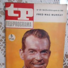 Coleccionismo de Revista Teleprograma: REVISTA TP TELEPROGRAMA Nº 20 FRED MAC MURRAY - DIFICIL DE CONSEGUIR. Lote 133541282