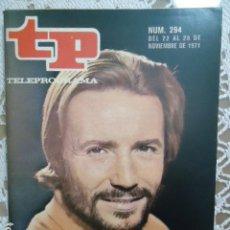 Coleccionismo de Revista Teleprograma: REVISTA TP TELEPROGRAMA Nº 294 A TRAVES DE LA NIEBLA. Lote 133842138