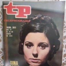 Coleccionismo de Revista Teleprograma: REVISTA TP TELEPROGRAMA Nº 302 ELIA. Lote 133842858