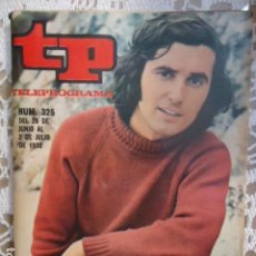 Coleccionismo de Revista Teleprograma: REVISTA TP TELEPROGRAMA Nº 325 VICTOR MANUEL. Lote 133844502